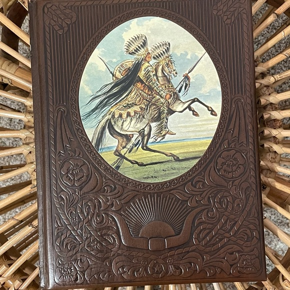 70's Faux Leather Time Life The Great Chiefs Book